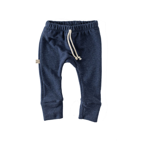 gusset pants in 'heather navy'