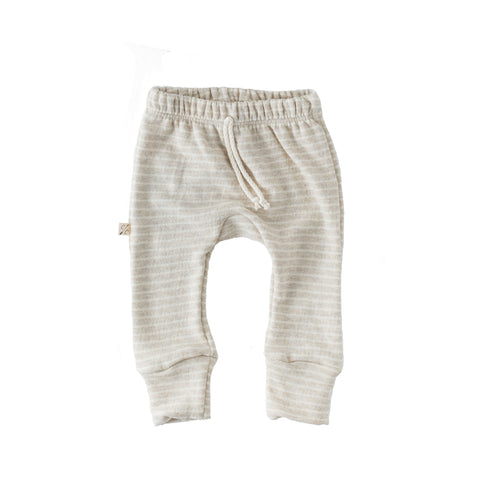 gusset pants in 'oatmeal stripe'