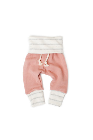 Skinny sweats in 'clay pink'