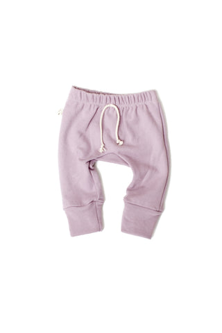 Gusset pants in 'lavender gray'