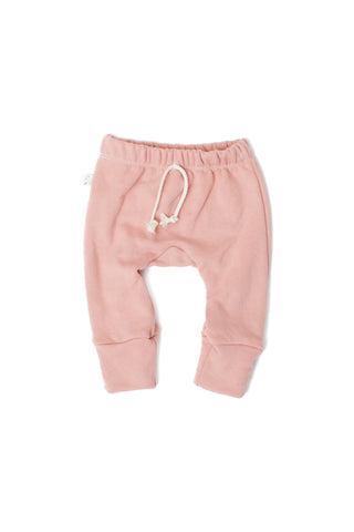 Gusset pants in 'clay pink'