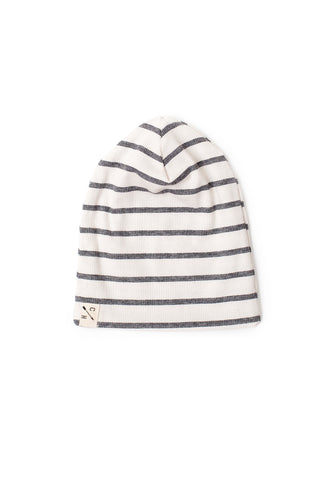 slouch beanie in 'ash stripe' rib [updated sizing]