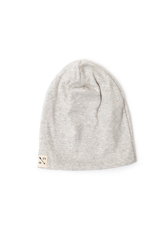 slouch beanie in 'solid soft gray' rib