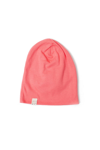 slouch beanie in 'coral' rib