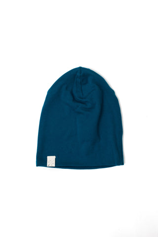 slouch beanie in 'peacock' rib