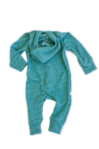 Hooded Romper in 'teal'