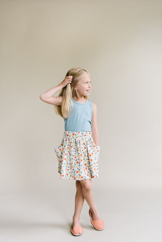 jersey skirt in 'ditsy floral'