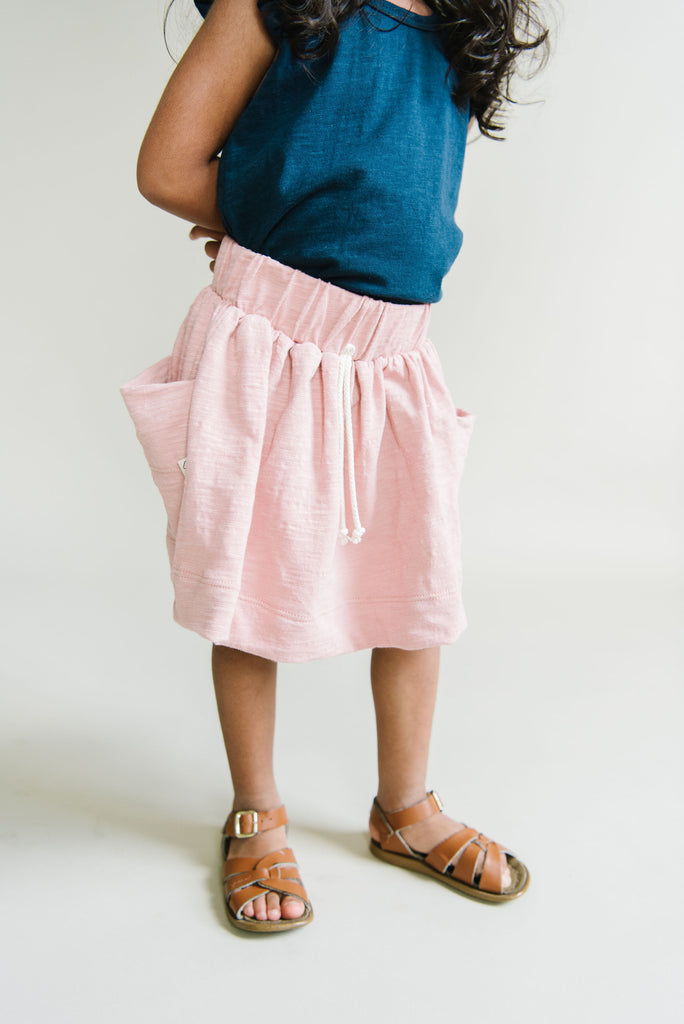 jersey skirt in 'clay pink'