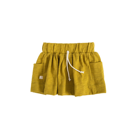 jersey skirt in 'chartreuse'