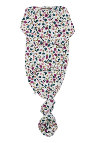 ribbed knotted sleeper in 'fall ditsy floral'