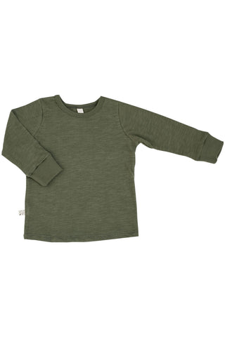 long sleeve tee in 'olive'