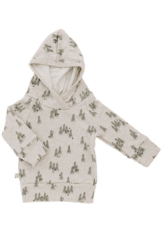 trademark raglan hoodie in 'trees' on oatmeal