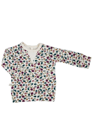 pullover crew in 'fall ditsy floral'
