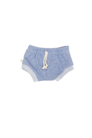 shorties in 'chambray solid'