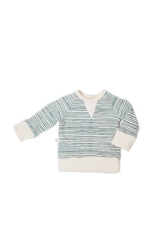 Pullover crew in 'painted stripe'