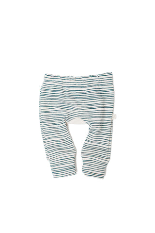 Gusset pants in 'painted stripe'