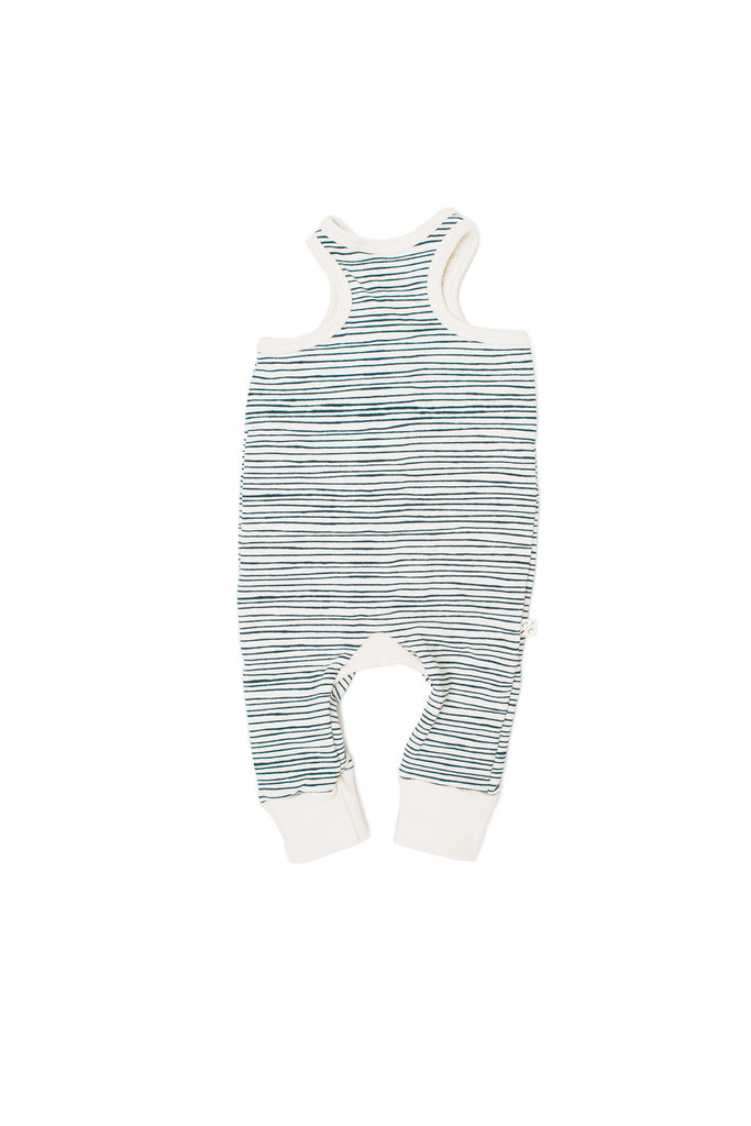 Tank romper in 'painted stripe'