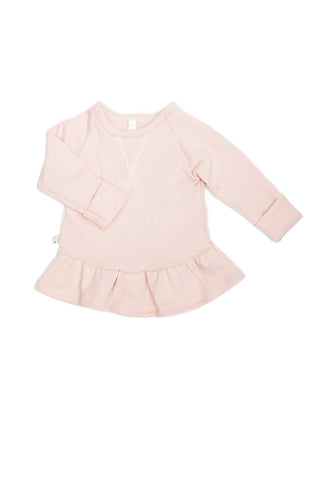 Peplum crew in 'blush'