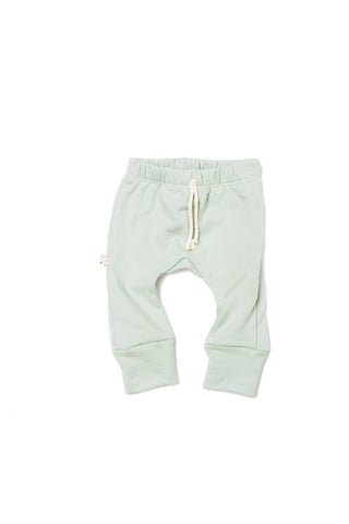 gusset pants in 'aqua'