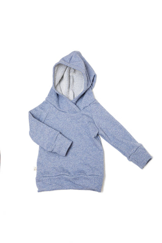 trademark raglan hoodie in 'chambray solid'