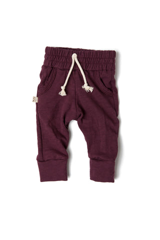 jersey jogger in 'eggplant'- NEW