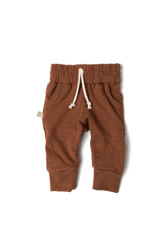 jersey jogger in 'cognac'- NEW