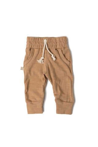 jersey jogger in 'camel'- NEW