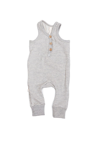 tank romper in 'medium gray stripe'