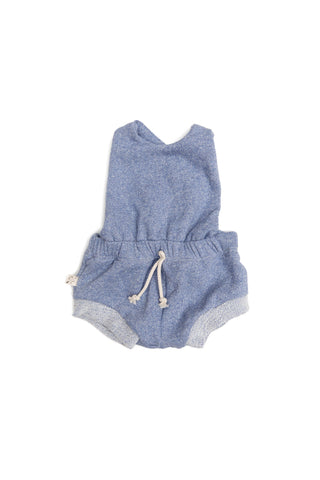 romper shortie in 'chambray solid' [please read sizing note]
