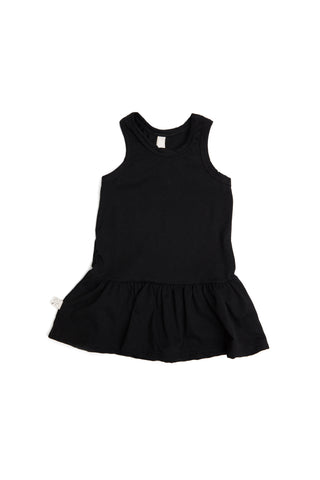 twirly tank dress in 'black'