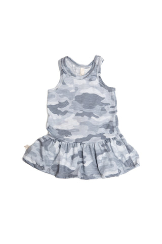 twirly tank dress in 'arctic camo'