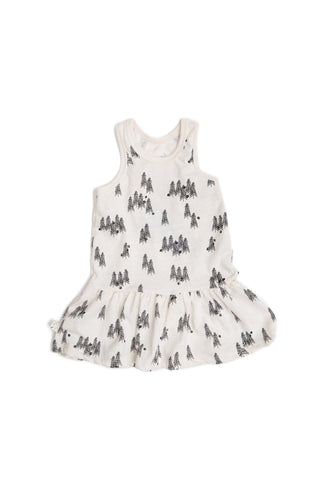 twirly tank dress in 'trees'