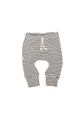 Gusset pants in 'narrow natural stripe'
