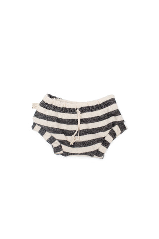 shorties in 'black and cream stripe'