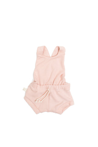 romper shortie in 'blush'