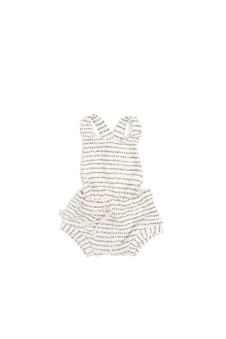 romper shortie in 'dash dot'