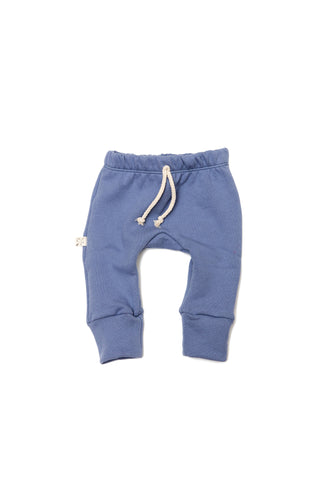 gusset pants in 'ocean'