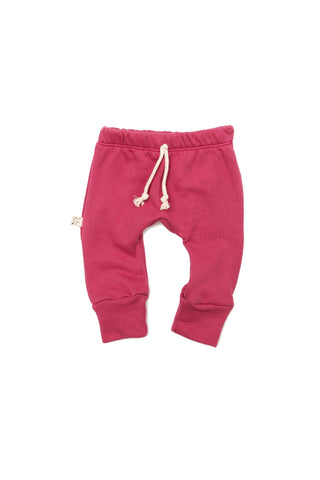 gusset pants in 'berry'