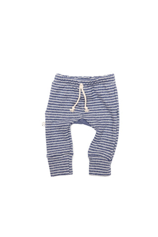 gusset pants in 'indigo stripe'