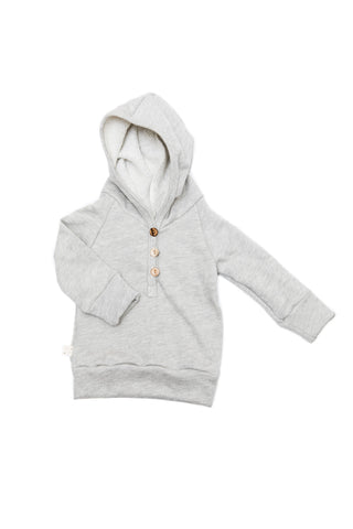 henley hoodie in 'medium gray'