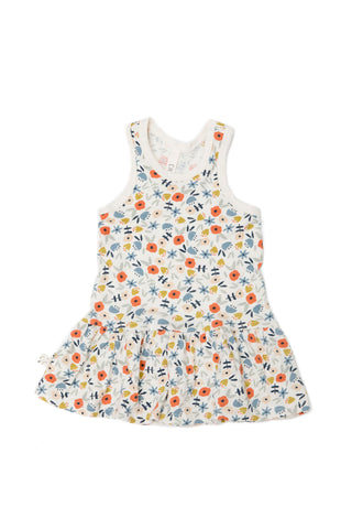twirly tank dress in 'ditsy floral'