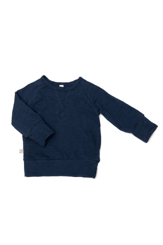 jersey pullover crew in 'navy'
