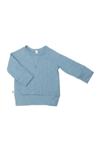jersey pullover crew in 'carolina blue'