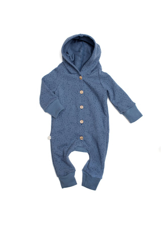 Hooded Romper in 'constellations'