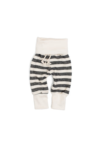 Skinny sweats in 'black and cream stripe'