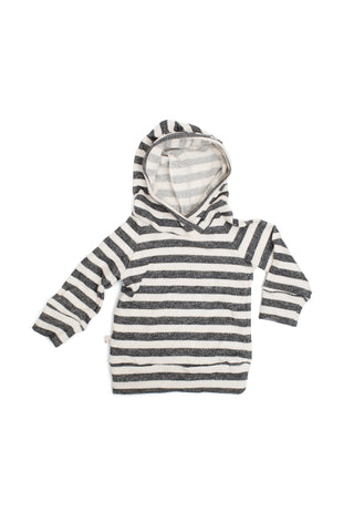 trademark raglan hoodie in 'black and cream stripe'