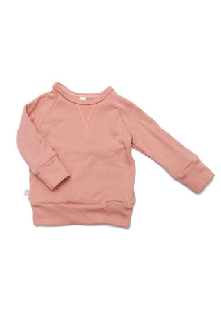 Pullover crew in 'clay pink'