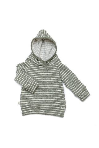 trademark raglan hoodie in 'heather olive stripe'