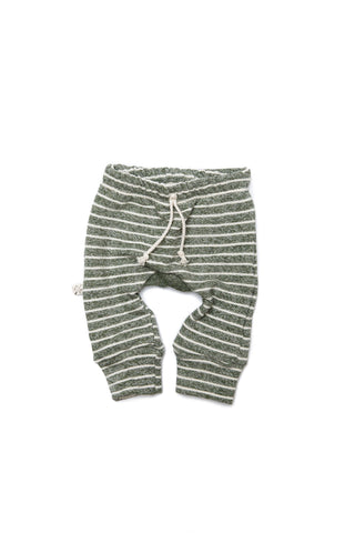gusset pants in 'heather olive stripe'