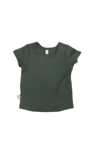 basic tee in 'forest green' jersey
